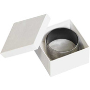 "White Jewelry Boxes 3-1/2"" x 3-1/2"" x 2"" - 100 Pack"