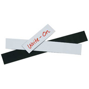 "Warehouse Labels Magnetic Strips White 2"" x 3"" - 25 Pack"