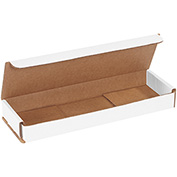 "White Corrugated Mailer 10"" x 3"" x 1"" - 50 Pack"