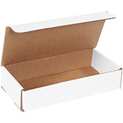 "White Corrugated Mailer 10"" x 5"" x 2"" - 50 Pack"