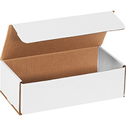 "White Corrugated Mailer 10"" x 5"" x 3"" - 50 Pack"