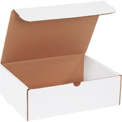 "Corrugated Mailers 10"" x 7"" x 4"" 200#/ECT-32-B White 50 Pack"
