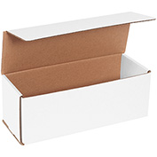 "White Corrugated Mailer 11"" x 4"" x 4"" - 50 Pack"