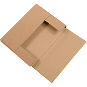 "Kraft Easy-Fold Mailers 11"" x 8-1/2"" x 3"" 50 Pack"