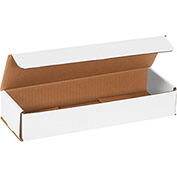 "White Corrugated Mailer 12"" x 4"" x 2"" - 50 Pack"