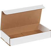 "White Corrugated Mailer 12"" x 6"" x 2"" - 50 Pack"