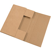 "Kraft Easy-Fold Mailer 15"" x 11 1/8"" x 6"" - 50 Pack"