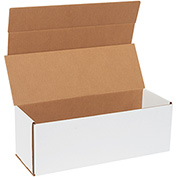 "Corrugated Mailers 17"" x 6"" x 6"", 200 lb. Test/ECT-32-B White - 50 Pack"