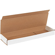 "Corrugated Mailers 21"" x 6"" x 2"", 200 lb. Test/ECT-32-B White - 50 Pack"