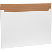"Jumbo Fold-Over Mailers 38"" x 26"" x 1"", 200 lb. Test/ECT-32-B White - 20 Pack"