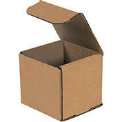 """Corrugated Mailers 4"""" x 4"""" x 4"""" 200lb. Test/ECT-32 Kraft 50 Pack"""