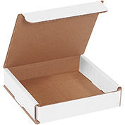 "White Corrugated Mailer 5"" x 5"" x 1"" - 50 Pack"