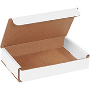"White Corrugated Mailer 6"" x 4"" x 1"" - 50 Pack"