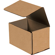 "Kraft Corrugated Mailer 6"" x 4"" x 4"" - 50 Pack"