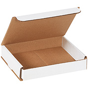 "White Corrugated Mailer 6"" x 5"" x 1"" - 50 Pack"