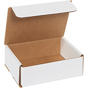 "White Corrugated Mailer 6"" x 5"" x 2"" - 50 Pack"
