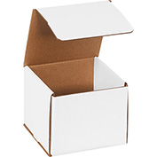 "White Corrugated Mailer 6"" x 6"" x 5"" - 50 Pack"