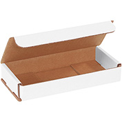 "White Corrugated Mailer 7"" x 3"" x 1"" - 50 Pack"