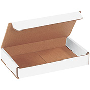"White Corrugated Mailer 7"" x 4"" x 1"" - 50 Pack"