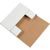"White Corrugated Bookfolds 7-1/2"" x 5-1/2"" x 2"" - 50 Pack"