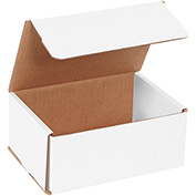 "White Corrugated Mailer 7"" x 5"" x 3"" - 50 Pack"