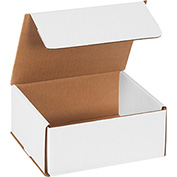 "White Corrugated Mailer 7"" x 6"" x 3"" - 50 Pack"