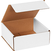 "White Corrugated Mailer 7"" x 7"" x 3"" - 50 Pack"