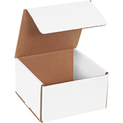 "White Corrugated Mailer 7"" x 7"" x 4"" - 50 Pack"
