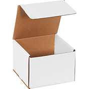 "White Corrugated Mailer 7"" x 7"" x 5"" - 50 Pack"