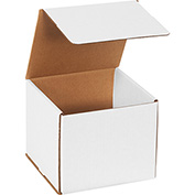 "White Corrugated Mailer 7"" x 7"" x 6"" - 50 Pack"