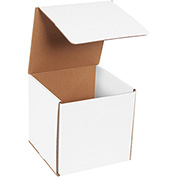 "White Corrugated Mailer 7"" x 7"" x 7"" - 50 Pack"