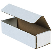 "White Corrugated Mailer 8"" x 2"" x 2"" - 50 Pack"