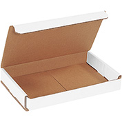 "White Corrugated Mailer 8"" x 5"" x 1"" - 50 Pack"