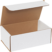 "White Corrugated Mailer 8"" x 5"" x 3"" - 50 Pack"