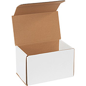 "White Corrugated Mailer 8"" x 5"" x 5"" - 50 Pack"