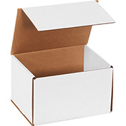 "White Corrugated Mailer 8"" x 6"" x 5"" - 50 Pack"