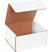 "White Corrugated Mailer 8"" x 7"" x 4"" - 50 Pack"