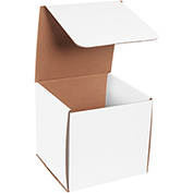 "Corrugated Mailers 8"" x 8"" x 8""  200#/ECT-32-B White 50 Pack"