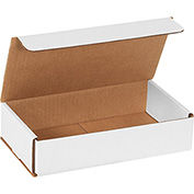 "White Corrugated Mailer 9"" x 5"" x 2"" - 50 Pack"
