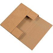 "Kraft Easy-Fold Mailer 9-1/2"" x 6-1/2"" x 2"" - 50 Pack"