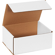 "White Corrugated Mailer 9"" x 7"" x 4"" - 50 Pack"