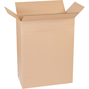 "Multi-Depth Corrugated Boxes 24"" x 13"" x 31"" 200 lb. Test/ECT-32 Kraft - 10 Pack"