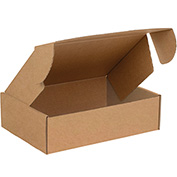 """Deluxe Literature Mailers 13"""" x 10"""" x 4"""" 200lb. Test/ECT-32 Kraft 50 Pack"""
