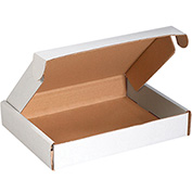 """Deluxe Literature Mailers 22"""" x 18"""" x 2-3/4"""" 200lb. Test/ECT-32 White 25 Pack"""