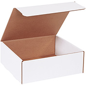 """Literature Mailers 11"""" x 10"""" x 4"""" 200lb. Test/ECT-32 White 50 Pack"""