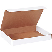 """Literature Mailers 14"""" x 10"""" x 2"""" 200lb. Test/ECT-32 White 50 Pack"""