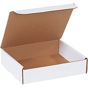 "White Literature Mailers 8"" x 7"" x 2"" 200Lb. Test/ECT-32-B - 50 Pack"