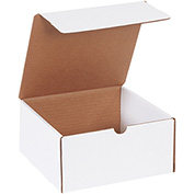 "White Literature Mailers 8"" x 8"" x 4"" 200Lb. Test/ECT-32-B - 50 Pack"