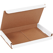 "White Corrugated Mailer 9"" x 6"" x 1"" - 50 Pack"