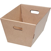 "Corrugated Tote MT191310 - 19-1/2""L x 13""W x 10""H - Kraft - Price Each - Pkg Qty 25"
